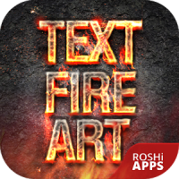 Fire Text Name Art