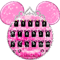 Pink Cute Minny Bowknot Keyboard Theme