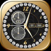 Gold Diamond Clock