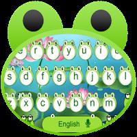 Cute Frog Big Eyes keyboard Theme