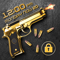 Gun shooting lock screen