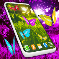 Butterfly Live Wallpaper Forest Purple Themes