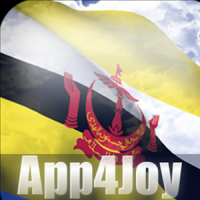 3D Brunei Flag Live Wallpaper
