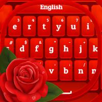 GO Keyboard Red Rose