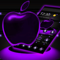 Violet Neon Apple Tech Theme