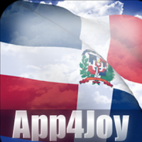 3D Dominican Republic Flag Live Wallpaper