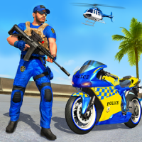 US Police Bike Gangster Chase: Crime City Games