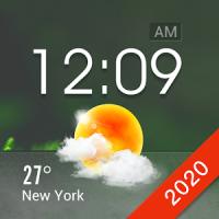 Transparent Glass Clock Widget