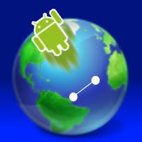 World Map Flying
