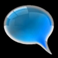 GO SMS Pro Cobalt Glass Theme