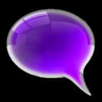 GO SMS Theme Purple Kush Glass
