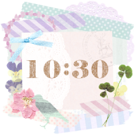 Cute and girly Clock Widget