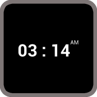 BLACK CAM CLOCK WIDGET