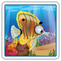 Ocean Fish Scratch & Color for kids & toddlers