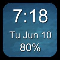 1x1 Clock and Battery Widget