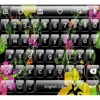Glass BlackFlow Emoji Keyboard