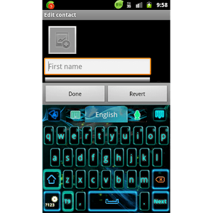 GO Keyboard Neon Flame Theme