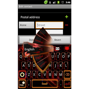 GO Keyboard Red Flame Theme