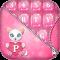 Pink Glitter Keyboard Design
