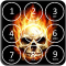 Skull Pin Screen Lock