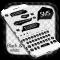 SMS Black White Keyboard