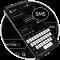 Black White SMS Keyboard Theme