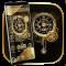 Clock Luxury Gold Theme
