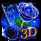 3D Love Rose Theme