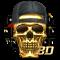 3D Hip-Hop Skull Keyboard