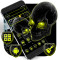 Neon Horror Skull Theme
