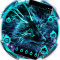 Blue Magic Supernatural Neon Wolf Theme