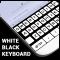Black & White Keyboard Theme with Emoji, GIF, Font