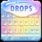 Rainbow Raindrop Fast Typing Keyboard