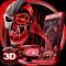 3D Tech Blood Skull Theme