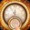 Golden clock fingerprint lock screen for prank