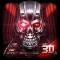 Neon Tech Skull 3D Theme
