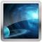 Blue Theme Planet Compass LWP