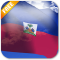 3D Haiti Flag Live Wallpaper