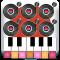 Six DJ Mixer Music Studio